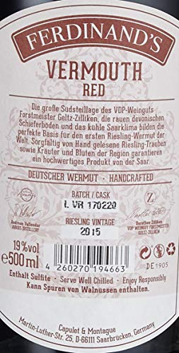 Ferdinand's Red Vermouth auf Basis deutschen Rieslings (1 x 0,5 l) - 9