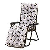 YIERMA Cojines reclinables para tumbonas, de algodón suave, cómodo respaldo, respaldo para jardín, respaldo alto, cojín de asiento de silla con funda antideslizante para relajante,