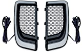 Kuryakyn 5064 Motorcycle Lighting Accessory: Tracer LED Running Light/Turn Signal Fairing Lower Grills for 2014-20 Harley-Davidson Motorcycles, Satin Black, 1 Pair