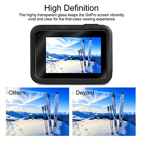 [6pcs] Deyard Screen Protector for GoPro Hero 7(Black Only)/Hero 6/Hero 5/2018, Ultra Clear Tempered Glass Screen Protector + Tempered Glass Lens Protector + Lens Cap Cover Accessories