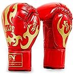 LUCHONG Guantes de boxeo para adultos de 12 onzas para entrenamiento de...