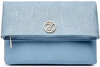 حقيبة نسائية طويلة تمر بالجسم طراز دايزي من زينيف لندن - زرقاء