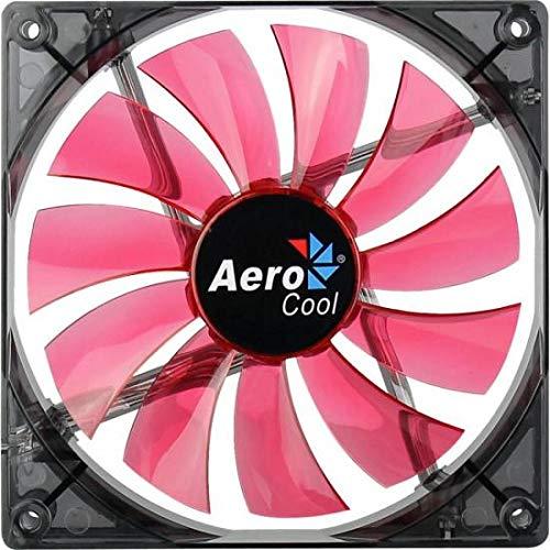 Aerocool Lightning 14cm - Ventilador de PC (Ventilador, Carcasa del Ordenador, 14 cm, Rojo, LED, Rojo)