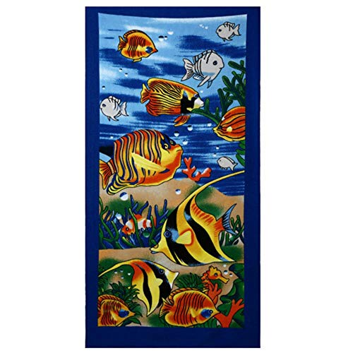 LinZX Microfibra Adulta cómica Toallas Grandes Textil Toalla de baño Suave Albornoz del Hotel Toalla Kinderdecke,Blue,70x150cm