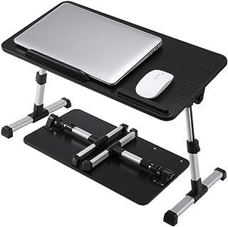Adjustable Laptop Desk for Bed,Portable Lap Desks with Foldable Legs, Portable Standing Bed Desk,for Eating, Working, Writ...