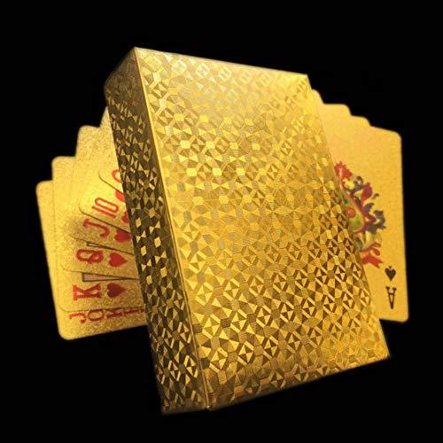 chengdu Profi Plastik Pokerkarten wasserfest - Spielkarten Standard wasserdichte Poker Karten, Zaubertricks Werkzeug für Texas Holdem Poker( 2)
