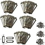 Namvo 50 soportes de etiquetas de latón de metal para archi