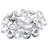 TsunNee 60 Stück Strass-Kristallknöpfe mit