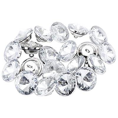 Material: los botones de cristal TsunNee están hechos de material de vidrio de calidad, con una base de metal fuerte, buena sensación de mano y duradero. Es hermoso, transparente transparente, brillante, lujo, buena mano de obra y delicado. Tamaño 20...