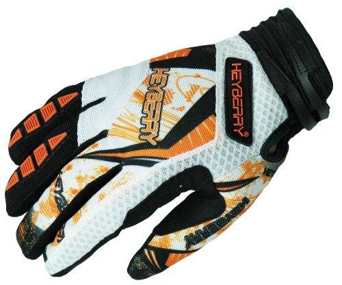 HEYBERRY Motocross MX Handschuhe schwarz weiß orange Größe: XXL