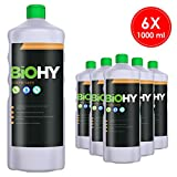 BIOHY Creme Seife 6 x 1 Liter Flaschen | Hautschonende, rückfettende und geruchsneutrale Handseife...
