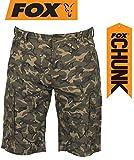Fox Chunk Lightweight Cargo Shorts Camo - Hose, Angelhose kurz, Kurze Hose zum Angeln, Anglerhose,...