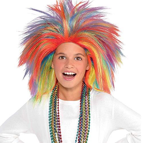Rainbow Crazy Party Wig Costume
