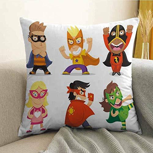 mallcentral-EU Funda de Almohada para Ropa de Cama de superhéroes Niños disfrazados de superhéroes Sala de Juegos para niños Niñas Niños Guardería Funda de Almohada para bebés