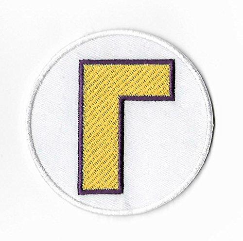 Waluigi L Patch Embroidered Iron on Badge Applique Costume Cosplay Mario Kart/SNES/Mario World/Super Mario Brothers/Mario Allstars