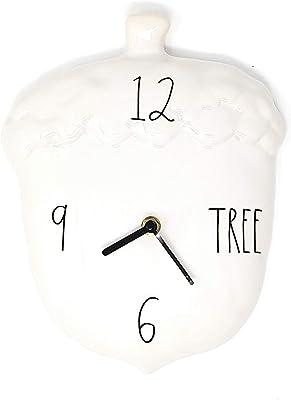 Magenta Collection Rae Dunn Acorn Clock, Tree in Black LL