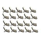 Acoser Metall Schnuller Clips mit Runden Einsätzen, Ideal für Schnuller Hosenträger, Lätzchen oder Spielzeug Halter (20)