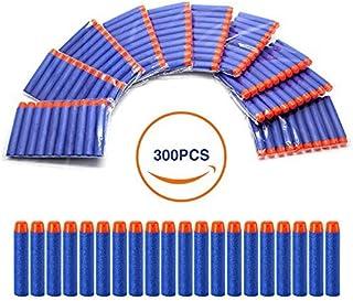 Geekper Refill Darts 300Pcs Bullets Ammo Pack for Nerf N-Strike Elite Series ( Blue ) - Kid's Fun