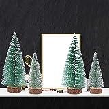 FENICAL Mini Weihnachtsbaum Künstlicher Weihnachtsbaum Christbaum Grün Tannenbaum künstliche Tanne 6pcs - 5