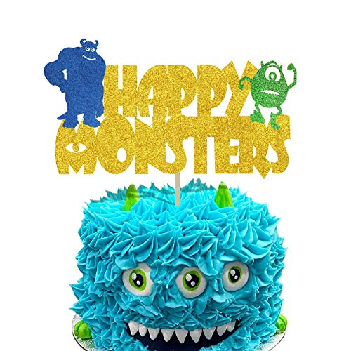 KAPOKKU Monsters Cake Toppers for Monsters Inc Monsters University Party Supplies Little Monsters Birthday Cake Decoration
