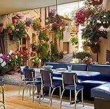 Benutzerdefinierte 3d Foto Wallpaper Landschaft Für Wohnzimmer Sofa Hintergrund Landschaft Nostalgie Haus Und Topf Blumen Wandmalereien Breite 250cm * Höhe160cm pro