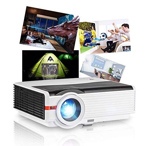 Proiettore HD di CAIWEI 5000 Lumen Android WiFi Home Theater multimediale ad alta definizione digitale Supporto da 200 'per console giochi video Sport Airbook Mirroring Tastiera mouse wireless