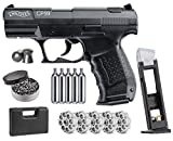 Wearable4U Umarex Walther CP99 .177 Caliber Pellet Gun Air Pistol 5X 12gr CO2 Tanks and 3pk 8-Shot Rotary Spare Mag with CO2 Drop-Free Mag and .177 500ct Pellets Bundle