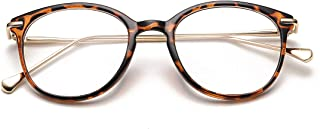 Vintage Round Clear Glasses Non-Prescription Eyeglasses Frames for Women Men