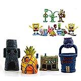 NC Spongebob Aquarium Decorations Set 12PCS