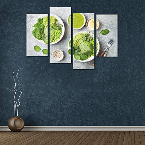 Zemivs 4 Stück Malerei Leinwanddruck Duftende und attraktive Avocado-Wandfarben Kein Rahmen Wohnzimmer Büro Hotel Home Decor Geschenk