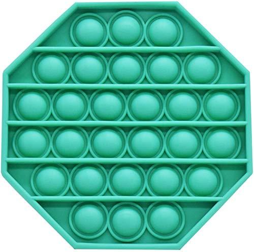 Brinquedo sensorial Pop Bubble para alívio de estresse de autismo, necessidades especiais, ansiedade, alívio de estresse, brinquedo sensorial, é para crianças e adultos, brinquedo de figetget é um jogo simples de empurrar (verde-octogonal)