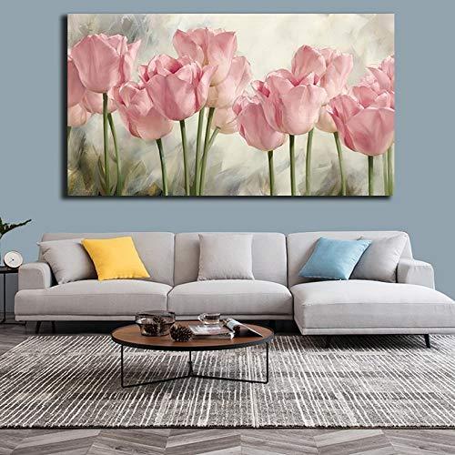 Rosa tulipán flor cartel pintura impresión lienzo cartel e impresión arte cuadro decoración40x60cm sin marco