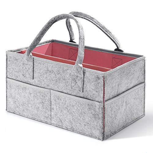 HBlife Baby-Wickeltasche, Organizer mit Fächern, Windel-Aufbewahrungskorb, Duschgeschenk