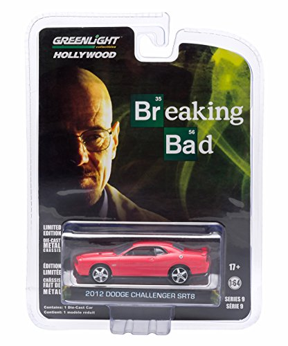 Greenlight New 1:64 Hollywood Series 9 - RED Breaking Bad 2012 Dodge Challenger SRT8 Diecast Model Car
