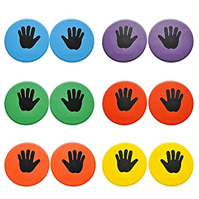 Amazon - 30% Off on  10inch Colorful Carpet Spot Flat Markers Feet Hands Twister Game for Classroom Home Indoor and Outdoor