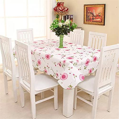 SUNFDD Tablecloth Home Garden Pvc Multicolor Tablecloth Printing Waterproof Rectangular Tablecloth Waterproof And Oil-Proof Non-Slip Tablecloth 106x152cm(WxH) D