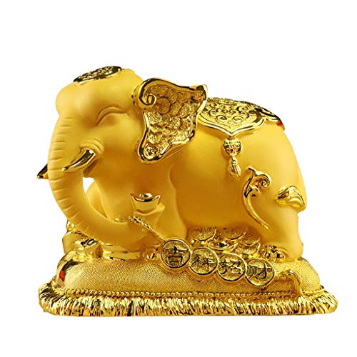liushop Buddha Statue Elephant Decoration Piggy Bank Exquisite and Creative Decoration for Luck & Wealth Perfect for Your Home Or Office Feng Shui Statues Meditation Decoration