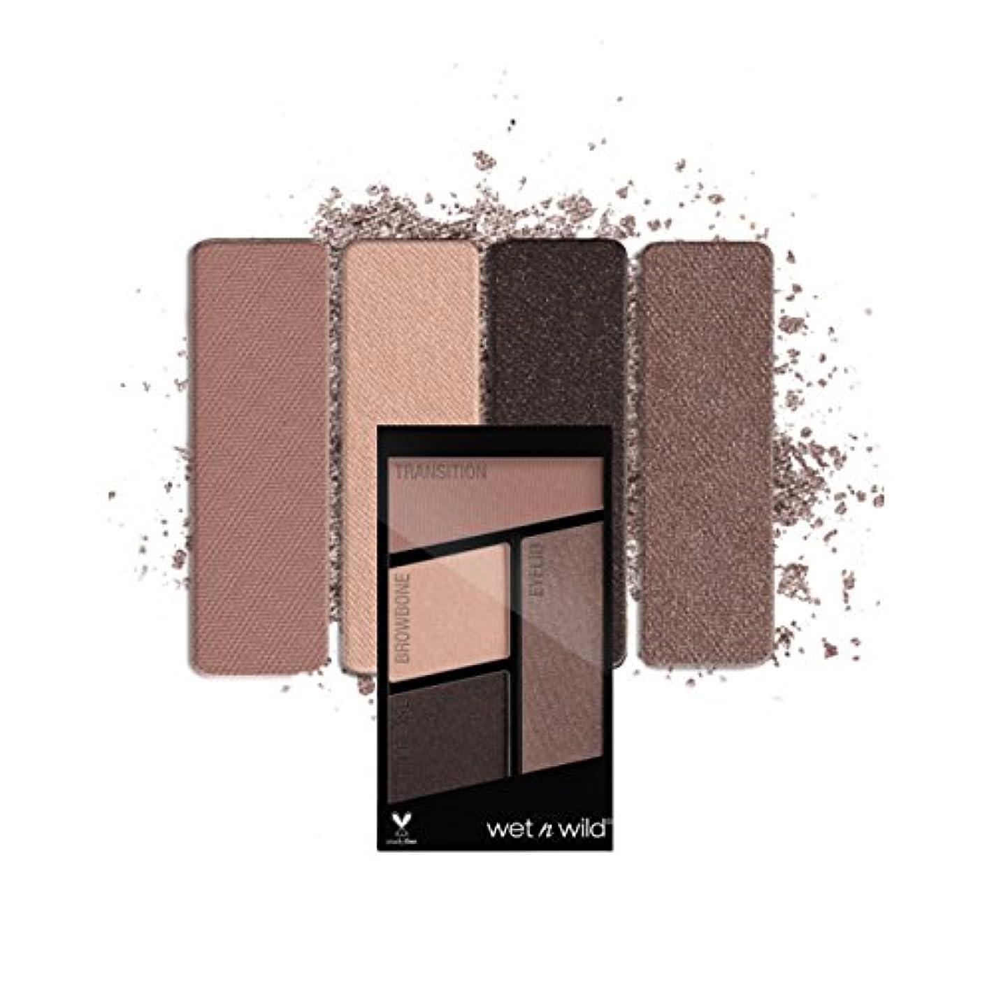 グローブ入植者望ましい(3 Pack) WET N WILD Color Icon Eyeshadow Quad - Silent Treatment (並行輸入品)