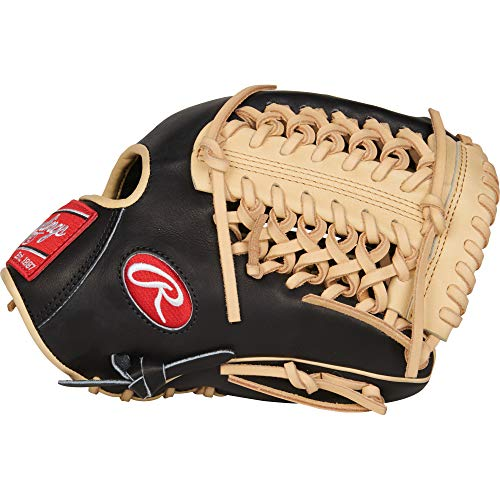 Rawlings Heart of The Hide R2G Baseball Glove, Black/Camel, 11.75 inch, Mod Trap Web, Right Hand Throw, Black/Camel - R2G - Infield PROR205-4BC