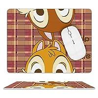 EVISUK チップとデール マウスパッド 防水 皮革マウスパッド 耐久性 滑り止め オフィス用 ゲーム アニメ キャラクター グッズ 20.5×25.5cm