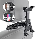 Tablet Holder for Car Back seat Headrest Mount Cradle 360° Rotation Adjustable Stand Compatible with iPad Air iPad Mini Samsung Huawei and All 7'-10.5' Tablets
