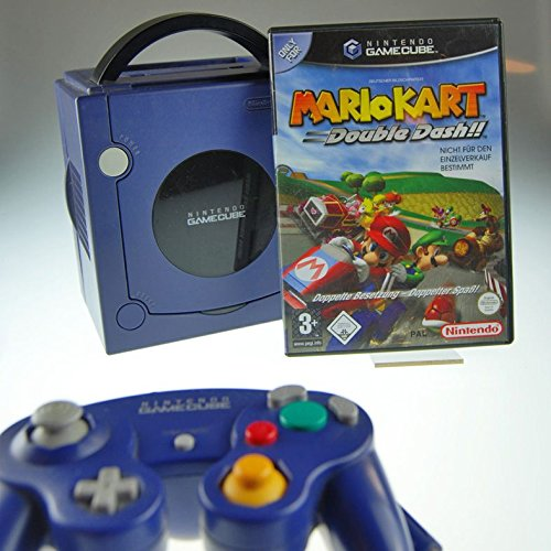 Nintendo Gamecube lila mit Mario Kart Double Dash