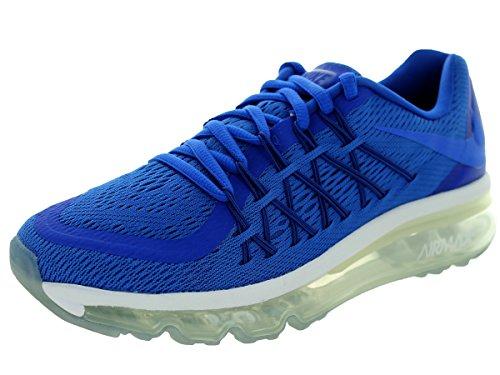 Nike Kids Air Max 2015 (GS) Gm Ryl/Gm Ryl/Dp Ryl Bl/blanco Running zapatos 5 Kids US