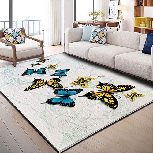Kunsen Designer Teppich Schmetterlingsdruck Teppich Wohnzimmer Moderne Hauptschlafzimmer...