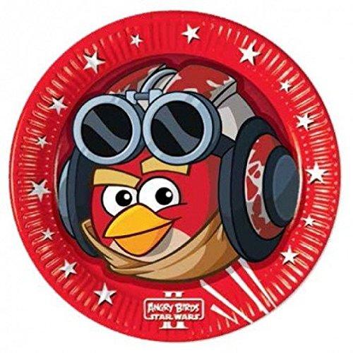 Angry Birds & amp; Plaque de fête Star Wars, 8 pièces