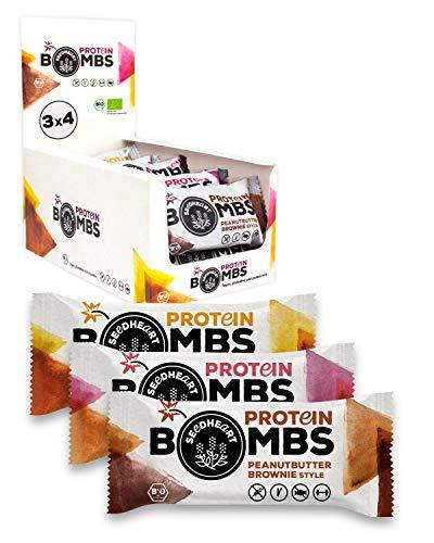 PROTEIN BOMBS MIX 12x50g | Proteinreiche Bio-Balls ohne Zuckerzusatz | Die glutenfreie, vegane Alternative zum Proteinriegel! 💪💚