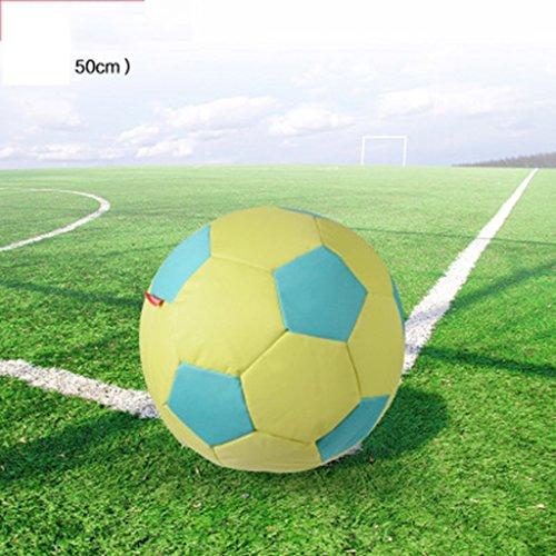Sofa Canapé en Forme de Football Multi-Couleur Paresseux (Couleur : Le Jaune, Taille : 90cm)