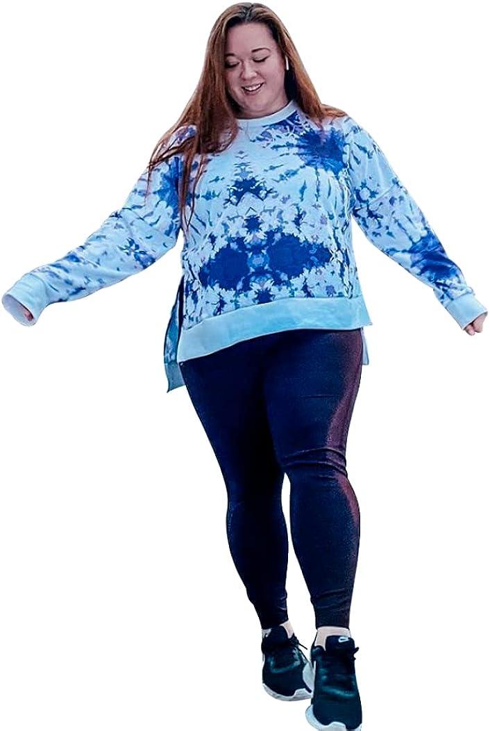 Womens Plus Size Sweatshirt for Workouts, Yoga, Running (Small, Medium, Large, Plus Size) USA Made - Small (Purple, 3x)
