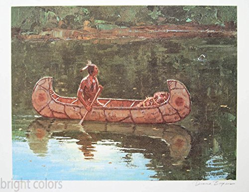 Bright Colors Duane Bryers, Green River, Native American Art, Original Signed Lithograph