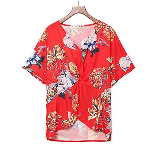 DISCOUNTL - Camisa de Gasa con Cuello en V para Mujer (los